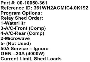 Click image for larger version.  Name:Midi Load Shed Order 361WH2ACMIC4.0K192 - Rev 2019-08-07.jpg Views:2 Size:46.2 KB ID:32845